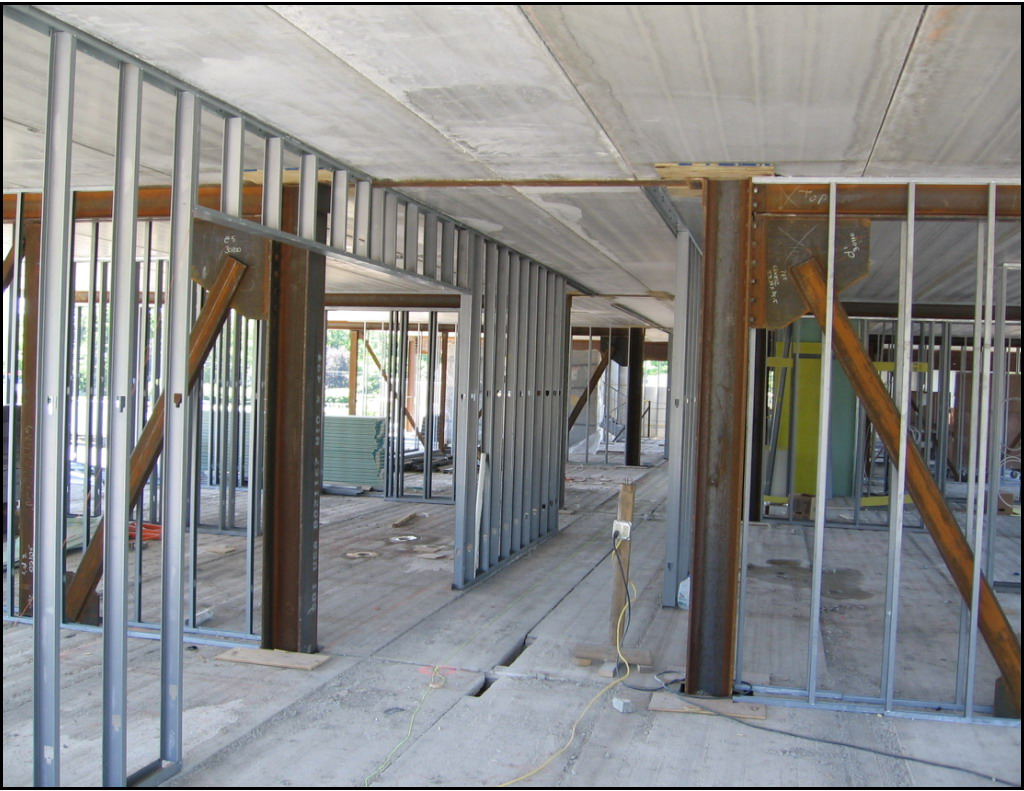 light gauge metal framing consists of thin sheet metal formed into