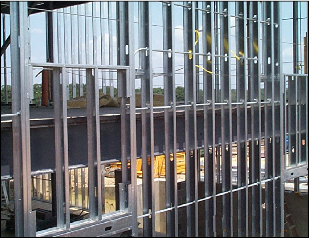 light gauge metal framing consists of thin sheet metal formed into shapes that can be used for wall studs floor joists roof rafters and truss members